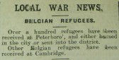 Belgian Refugees in Peterborough and Cambridge