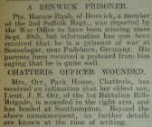 Benwick Prisoner and Injured Chatteris Officer