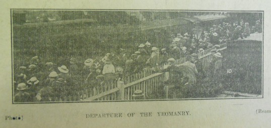 Departure of the Yeomanry