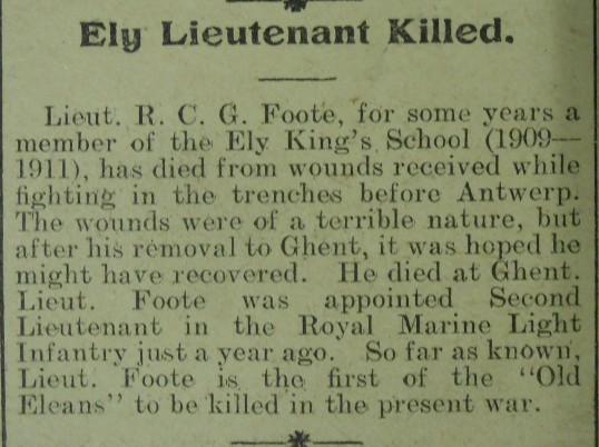 Ely Lieutenant Killed