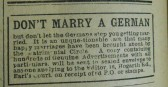 Marriage Advert