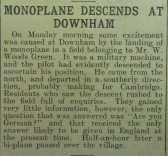 Monoplane at Downham