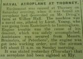 Naval Aeroplane at Thorney