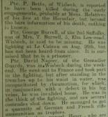 News of Wisbech Men