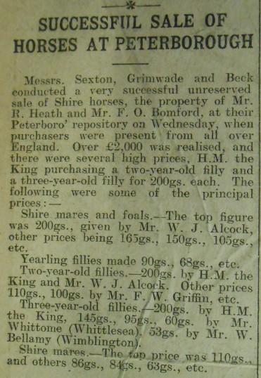 Sale of Horses
