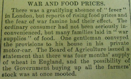 War and Food Prices
