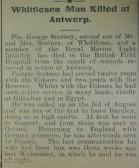 Whittlesey Man Killed