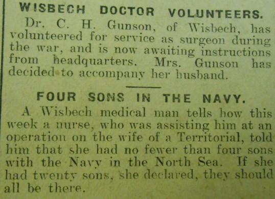 Wisbech Doctor Volunteers