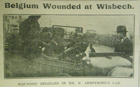 Wounded Belgians in Wisbech