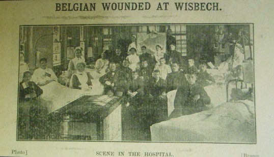 Wounded Belgians in Wisbech Hospital