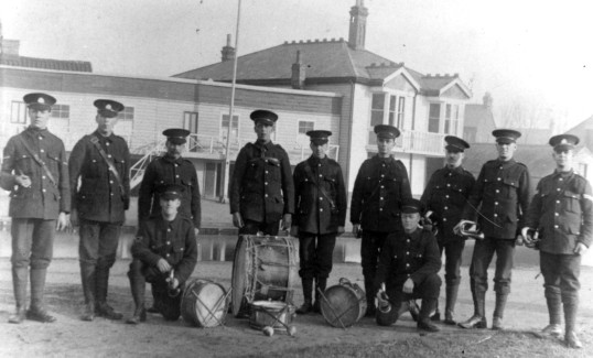 Members of the 11th Suffolks Band, Midsummer Common Circa 1914