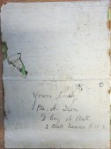 Letter from A. Ison on back of Chivers Plum Label