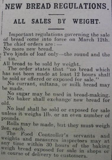 Bread regulations