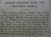 Private Samuel J. Seal awarded Military Medal