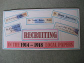 Extracts on recruiting collected from local newspapers