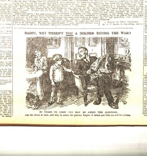 recruiting advert1 5 Mar 1915