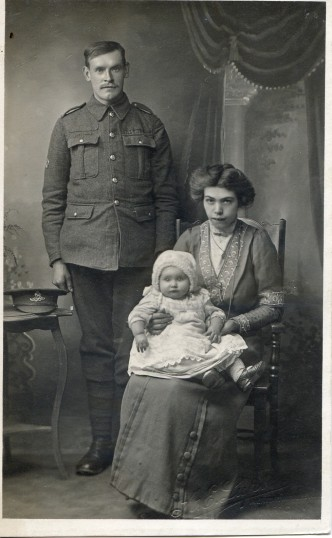 Lewis and Emily Harrup with one of their children