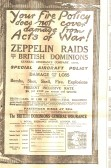 Advert for Insurance for damage from Zeppelin raids