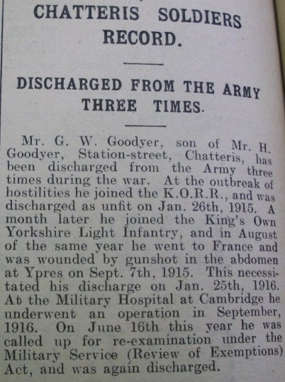 Soldier's record- discharged from Army three times