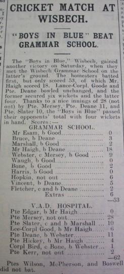 Cricket match at Wisbech