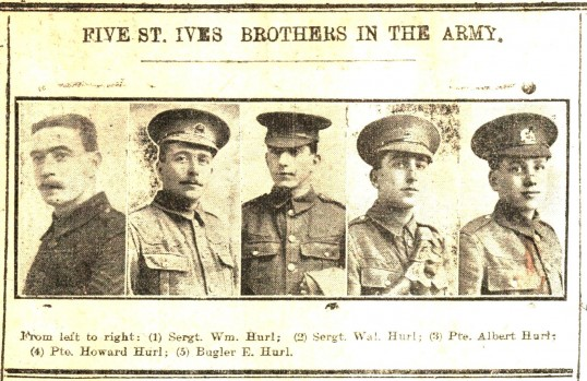 The five Hurl brothers from St Ives