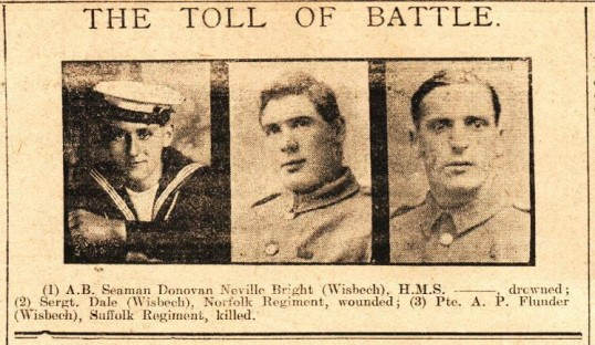 Wisbech Lads Killed and Wounded