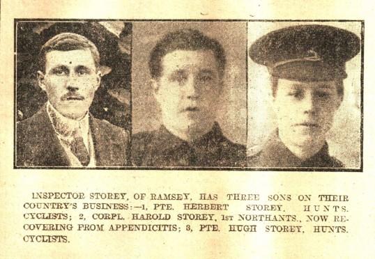 Herbert, Harold and Hugh Storey