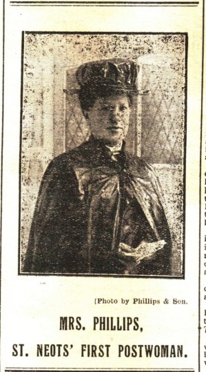 Mrs Phillips - first postwoman for St Neots