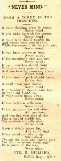 Never Mind - a poem