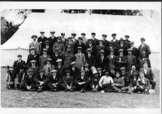 Gorefield Service and exservicemen, Peace Celebrations September 26th 1919