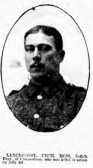 Moss, Cecil John. Regiment number 16614 of 11th Battalion of the Suffolks. Died 1st July 1916. From Chippenham.