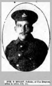 Moody, Thomas. Regiment number 13786 of 11th Battalion of the Suffolks. Died 1st July1916, from Fen Drayton.