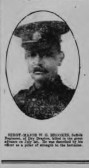 Brooks, William George. CompanySergeant Major 3/986911th of  Suffolks. Died 1st July 1916. From  Islington/ Dry Drayton.