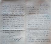 Rob's last letter to Estelle, 25th June 1916