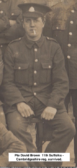 Pte David Brown from Gorefield