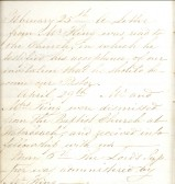 Entries for 1849 from Minute Book, Particular Baptist Church, Aldreth.