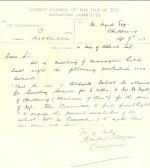 Letter regarding use of Aldreth school for Baptist worship.