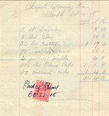 Receipt for supplies for the opening of the Particular Baptist Chapel, Aldreth.
