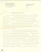 Letter from the architect about the building account for the Particular Baptist Chapel, Aldreth.