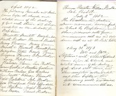 Entries for 1882 from Minute Book, Particular Baptist Church, Aldreth.