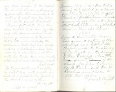 Entries from 1905 from Minute Book, Particular Baptist Church, Aldreth.