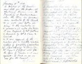 Entries from 1909 from Minute Book, Particular Baptist Church, Aldreth.