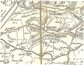 Map of part of the Isle of Ely. 1920s Map