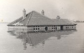 Mr Hawkin's Bungalow during the 1947 floods