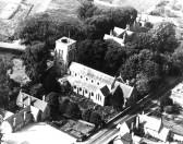 Aerial view of Holy Trinity Church, Haddenham