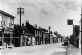 High Street, Haddenham, with the Rose and Crown on the extreme right.