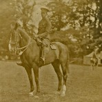 Alfred Norman mounted on his horse