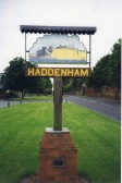 The Haddenham sign from both sides