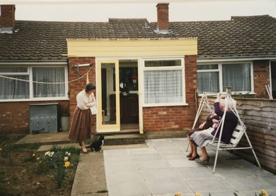 Betty Jones(Peters), Ada Peters and Beatrice Smith in Linden Close