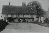 Balsham - The Bull Hotel (now The Bull Public House) Halls of Ely are the Brewers.